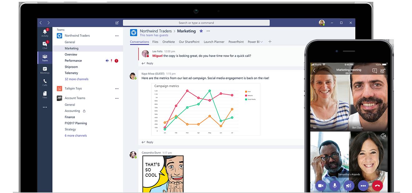 Microsoft Teams peut vous aider à renforcer la collaboration au sein de l'entreprise